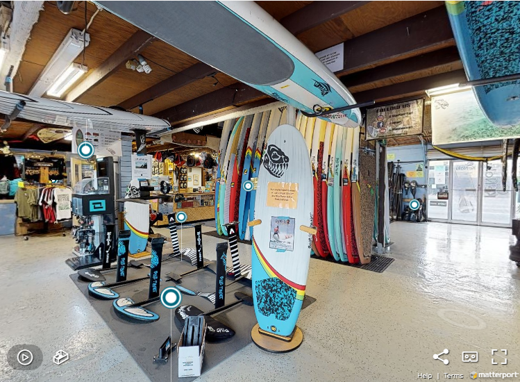 Open for Virtual business: Riding the 3D wave @ Blue Planet Surf Shop